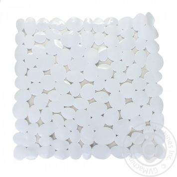 Килимок Ашан Actuel білий нековзаючий 52x54см - купити, ціни на Ашан - фото 2