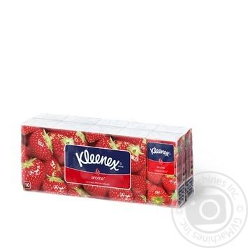 Носові хустинки ароматизовані Kleenex Aroma Strawberry (3 шари розмір аркуша 21*20см) 10шт