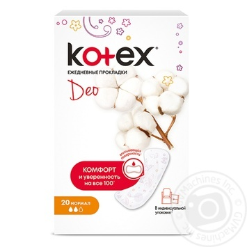Прокладки ежедневные Kotex Део Нормал 20шт - купить, цены на Novus - фото 1