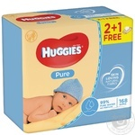 Huggies Pure Baby Wet Wipes 3*56pcs