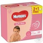 Салфетка влажная Huggies Soft Skin 56шт/уп
