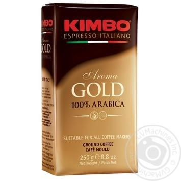 Кофе Kimbo Aroma Gold 100% Arabica молотый 250г - купить, цены на Метро - фото 1