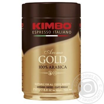 Kimbo Aroma Gold 100% Arabica ground coffee 250g - buy, prices for MegaMarket - image 1