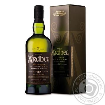 Виски Ardbeg 10 лет 46% 0,7л - купить, цены на Фуршет - фото 1