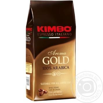 Kimbo Aroma Gold 100% Arabica whole beans coffee 250g