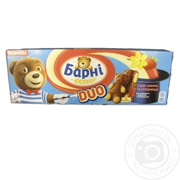 Barni with vanilla and strawberries filling biscuit cake 150g - buy, prices for Novus - image 2
