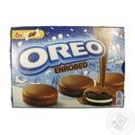Печенье Oreo Enrobed с какао и начинкой с ванильным вкусом в шоколадной глазури 246г