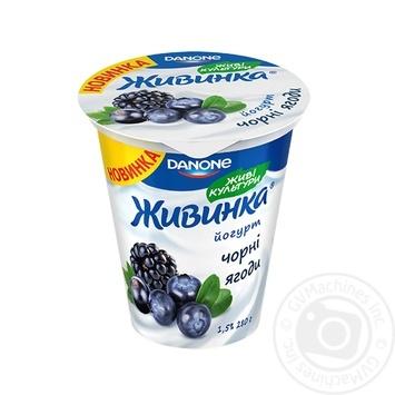 Йогурт Danone Живинка Черные ягоды 1,5% 280г
