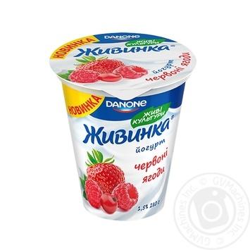 Йогурт Danone Живинка Красные ягоды 1,5% 280г