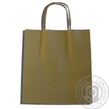 Крафтовий пакет коричневий 250Х230Х100мм - купити, ціни на Метро - фото 2