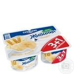 Йогурт Danone Живинка Банан-Злаки 1,5% 4*115г