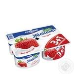 Йогурт Данон Живинка клубника 1.5% пластиковый стакан 4х115г