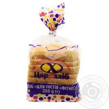 Хлеб Царь Хлеб Для тостов Фитнес 350г - купить, цены на Ашан - фото 1