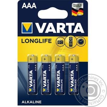 VARTA Longlife AAA BLI 4 Alkaline Battery - buy, prices for Novus - image 1