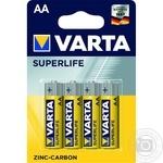 Батарейка VARTA Superlife AA BLI4 Zinc-carbon 4шт - купить, цены на Novus - фото 1