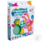 Набір для ліплення Genio Kids Пластилін кульковий 4кольори