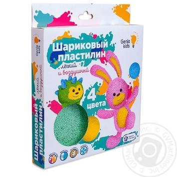 Набор для лепки Genio Kids Пластилин шариковый 4цвета - купить, цены на СитиМаркет - фото 1