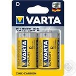 Батарейка VARTA Superlife R20 Zinc-carbon 2шт