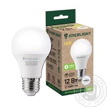 Лампа светодиодная Enerlight A60 12Вт 4100K E27 - купить, цены на Novus - фото 1