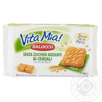 Печиво Balocco Vita Mia! з пластівцями без цукру 330г