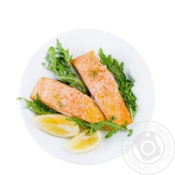 Филе лосося запеченное с копченой солью