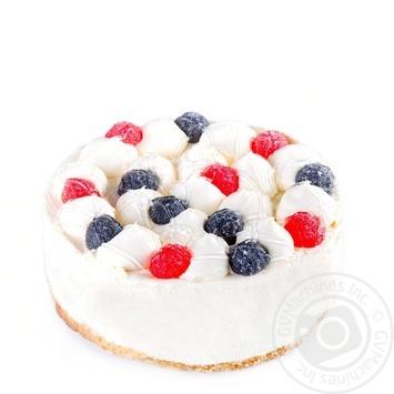 Торт с маскарпоне и малиной