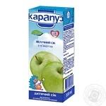 Сок Карапуз яблочный с мякотью и сахаром детский гомогенизированный с 3 месяцев стеклянная бутылка 200мл Украина
