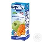 Сок Карапуз морковно-яблочный с сахаром гомогенизированный с 4 месяцев 200мл Украина