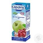Сок Карапуз яблочно-вишневый с сахаром детский неосветленный стерилизованный с 4 месяцев тетрапакет 200мл Украина