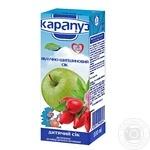 Сок Карапуз яблочно-шиповниковый с сахаром неосветленный с 4 месяцев 200мл