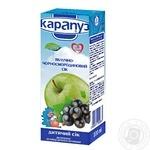 Unclarified juice Karapuz apple-black currant with sugar for 4+ months babies 200ml