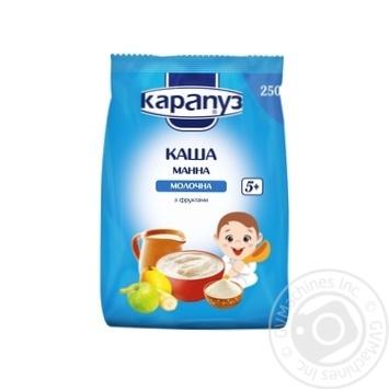 Каша Карапуз молочная манная с фруктами 400г - купить, цены на МегаМаркет - фото 1