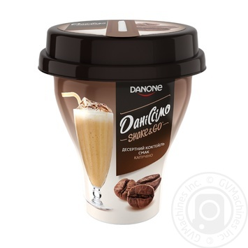 Йогуртный коктейль Даниссимо Shake&go Капучино 5,2% 260г - купить, цены на Novus - фото 1