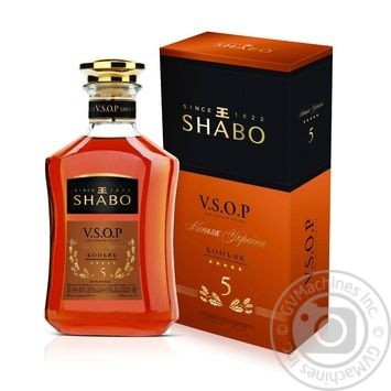 Коньяк Shabo 5 звезд V.S.O.P. 40% 0,5л