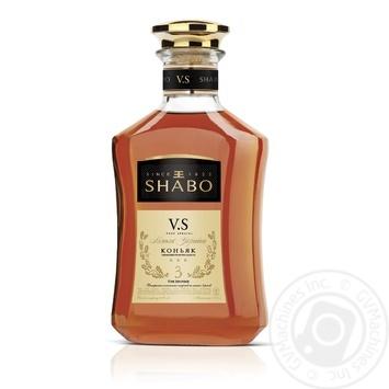 Shabo 3 stars V.S. cognac 40% 0,375l - buy, prices for CityMarket - photo 1