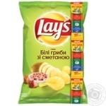 Чипсы Lay's со вкусом белых грибов и сметаны 133г