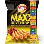 Чипсы Lay's Maxx со вкусом куриных крылышек барбекю 62г