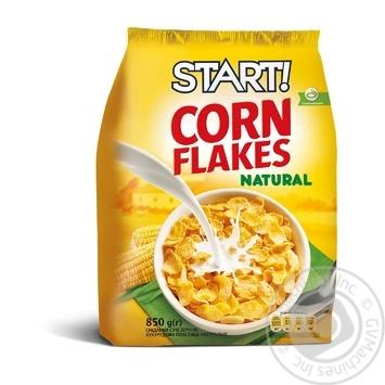 Сухі сніданки Start! пластівці кукурудзяні натуральні 850г - купити, ціни на Novus - фото 1