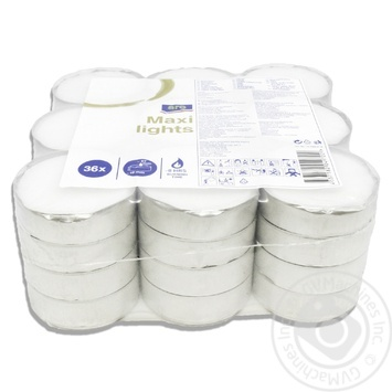 Набір свічок чайних Aro 36шт - купити, ціни на Метро - фото 2