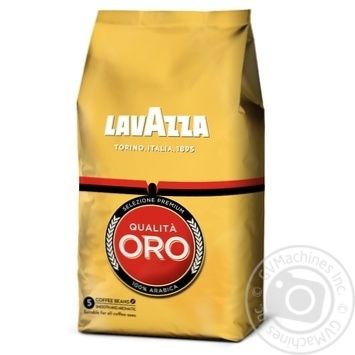 Natural roasted coffee beans Lavazza Qualita Oro 100% Arabica 1000g - buy, prices for MegaMarket - image 1