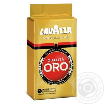 Кава Lavazza Qualitа Oro мелена 250г - купити, ціни на МегаМаркет - фото 1