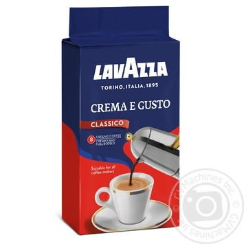 Natural ground roasted coffee Lavazza Crema e Gusto 250g - buy, prices for MegaMarket - image 1