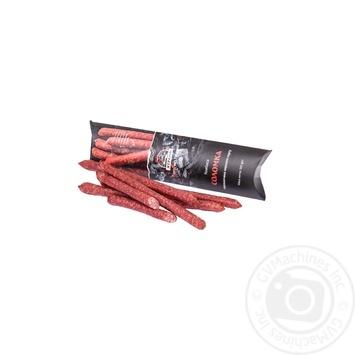 Колбаса Ятрань Соломка сырокопченая 1/с 205г - купить, цены на Фуршет - фото 1