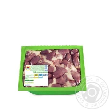 Сердце Наша Ряба цыпленка-бройлера охлажденное вакуумная упаковка 650г