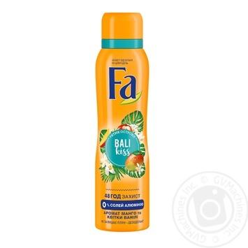 Дезодорант-спрей Fa Bali Kiss Ритмы островов 150мл - купить, цены на Метро - фото 1