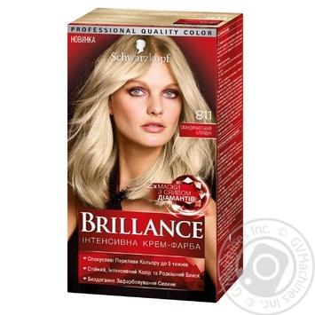 Brillance 811 Hair dye Scandinavian blond 142,5ml - buy, prices for Novus - image 1