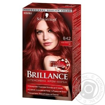 Краска для волос Brillance 842 Куба жаркая ночь 142,5мл - купить, цены на Novus - фото 1