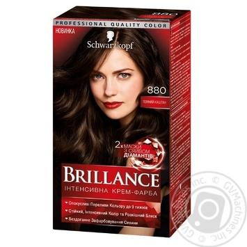 Краска для волос Brillance 880 Темный каштан 142,5мл