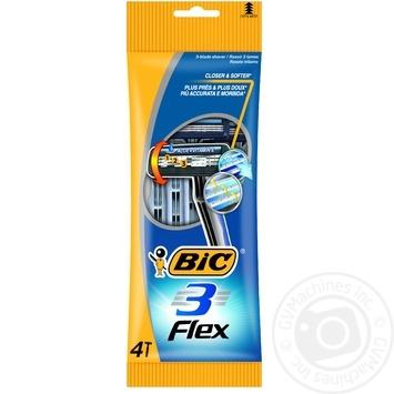 Бритва мужская BIC Flex 3 4шт - купить, цены на Novus - фото 1