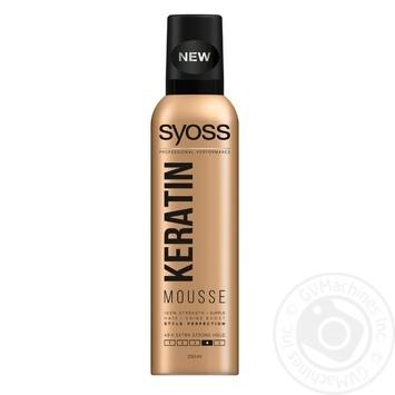 Мус для волосся Syoss keratin екстрасильна фіксація 4 250мл - купити, ціни на Novus - фото 1